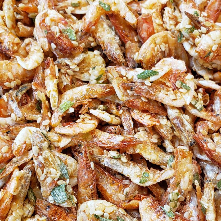 2002B 香蔥蝦 Roasted Green Onion Sakura Shrimps-Tôm sấy khô hành lá