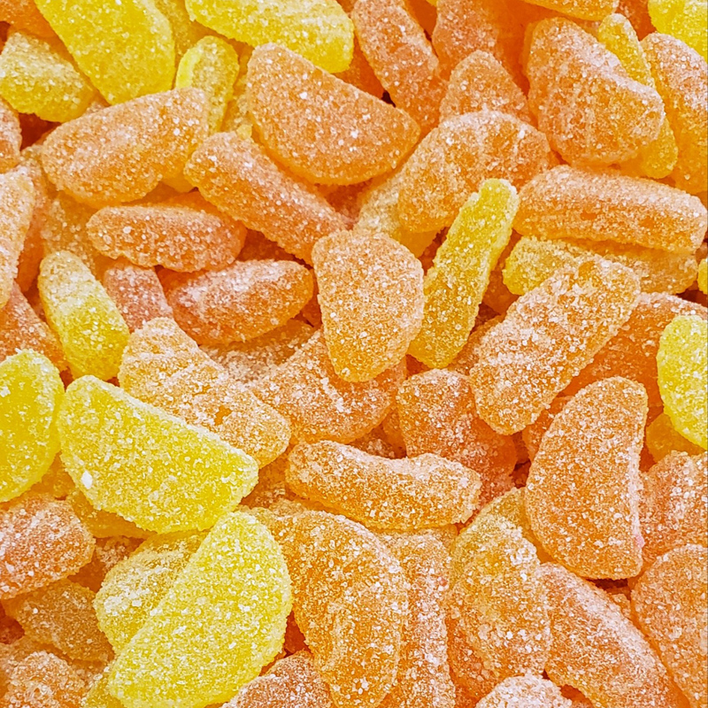 5058 橘瓣軟糖 Sour Orange Slices Candy-Kẹo dẻo chua vị cam